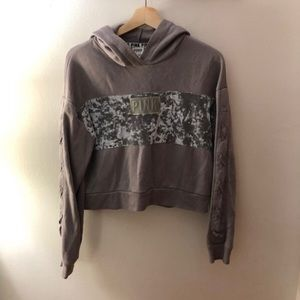 Perfect condition velvet Vs cropped hoodie